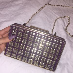 Gold and purple cross body and clutch! 💜
